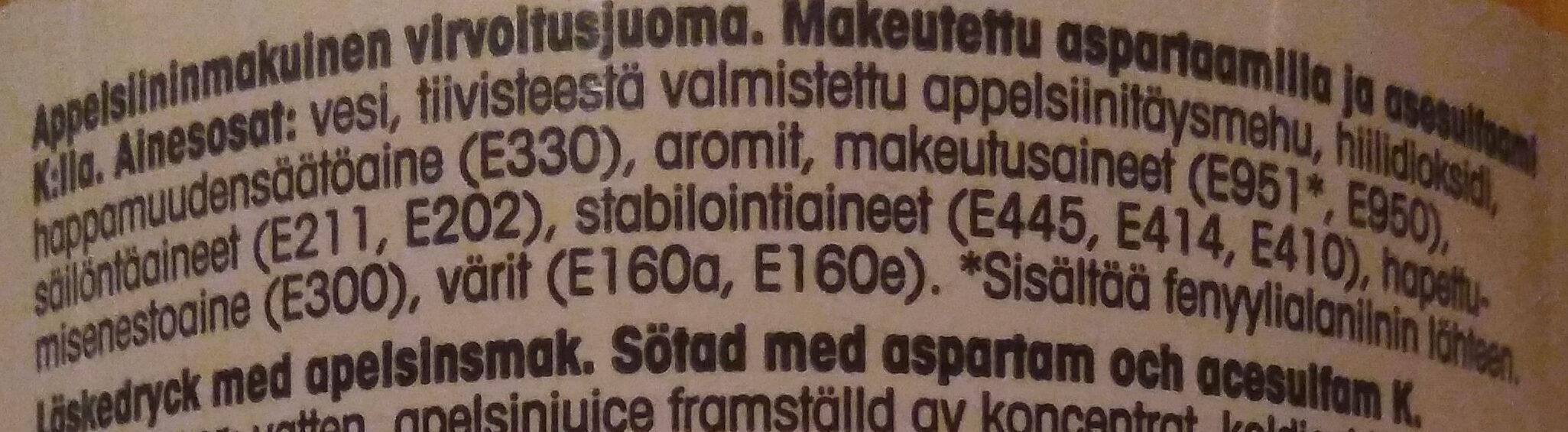 Jaffa Light - Ingredients - fi