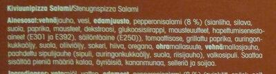 Salami kiviuunipizza - Ingredients - fi