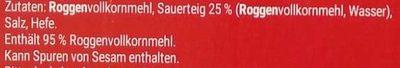 Finn Crisp - Ingrediënten - de