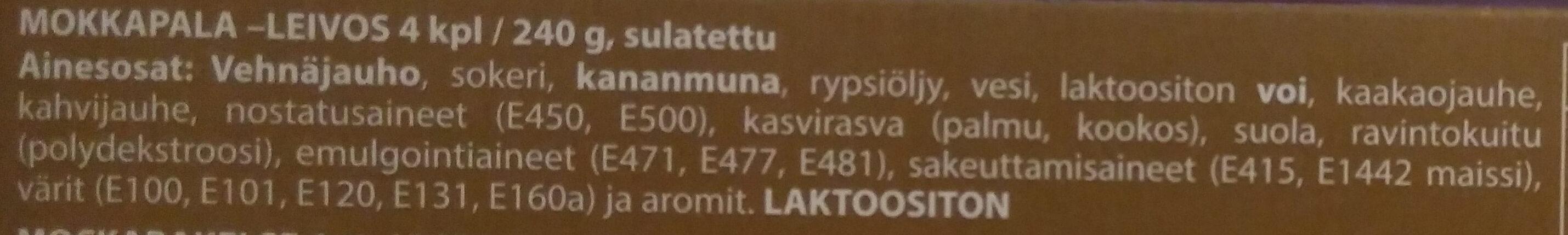 Makurasia mokkapala - Ingredients - fi