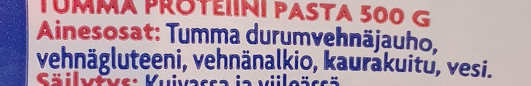 Tumma Proteiini Pasta - Ingrédients - fi
