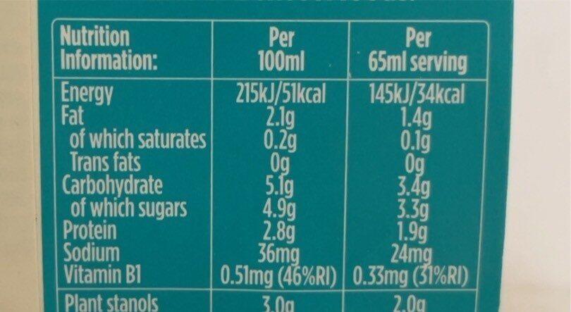 Yogurt drink - 营养成分 - fr