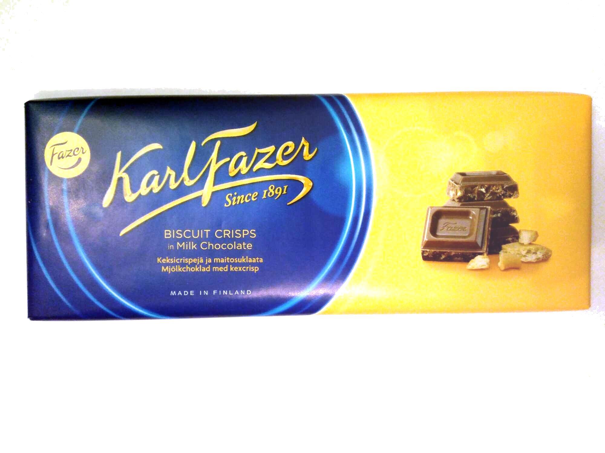 Karl Fazer keksicrispejä ja maitosuklaata - Продукт - fi