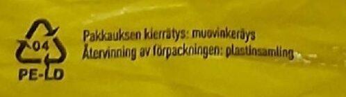 Reissumies - Kierrätysohjeet ja/tai pakkaustiedot - fi