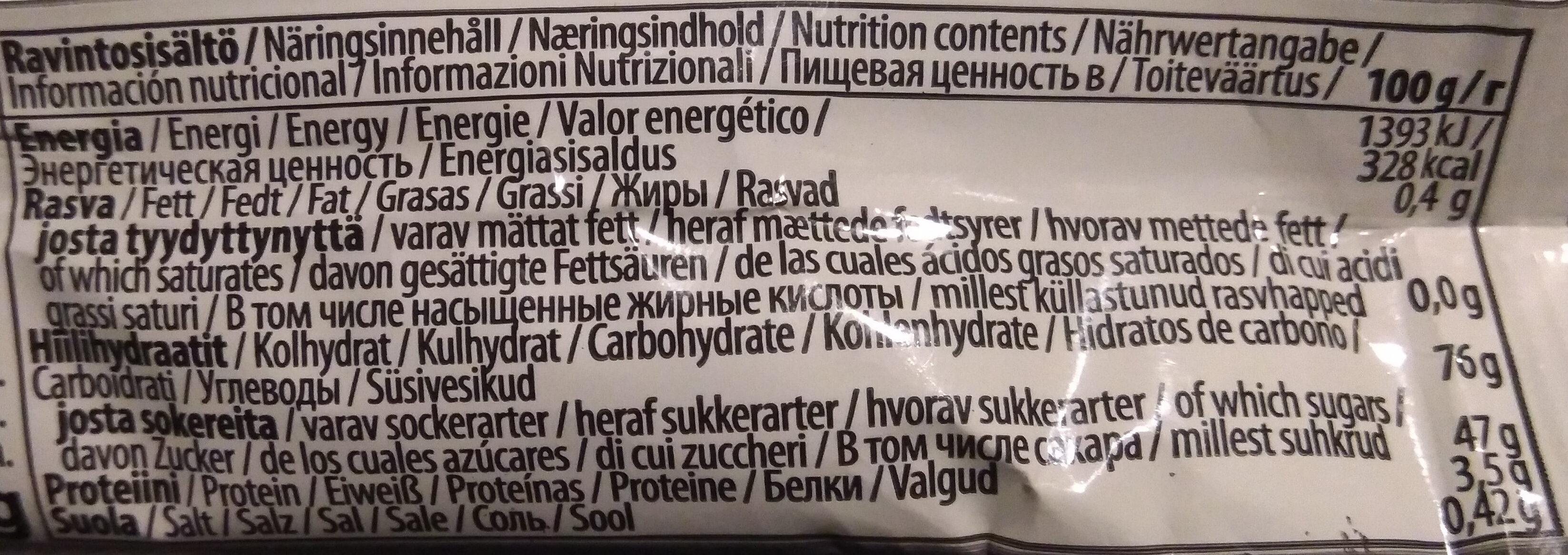 Pepe original xxl - Nutrition facts