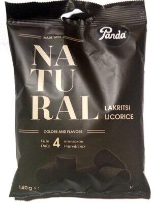 Natural lakritsi - Product - fi