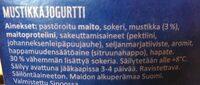 Mustikkajogurtti - Ingredients - fi