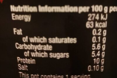 Protein Raspberry - Nutrition facts