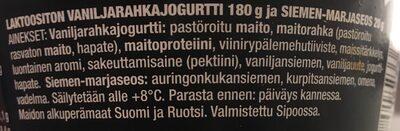 Arla Protein Jogurttikombo Vanilja - Ingredients - fi