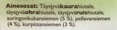 Alku Sadonkorjuu puuro - Ingredients