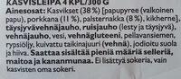 Juuresleipä Palsternakka & Porkkana - Ingrédients - fi