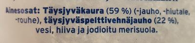 Jälkiuunipalat Täysjyväkauraleipä - Ingrédients - fi