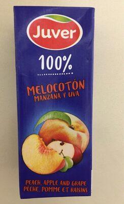 Zumo de melocotón, manzana y uva