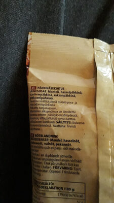 Pähkinäsekoitus - Ingredients