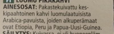 Pikakahvi Snabbkaffe - Ingrédients - fi