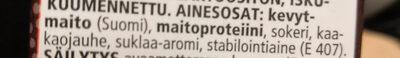 Proteiinijuoma - suklaa - Ingredients