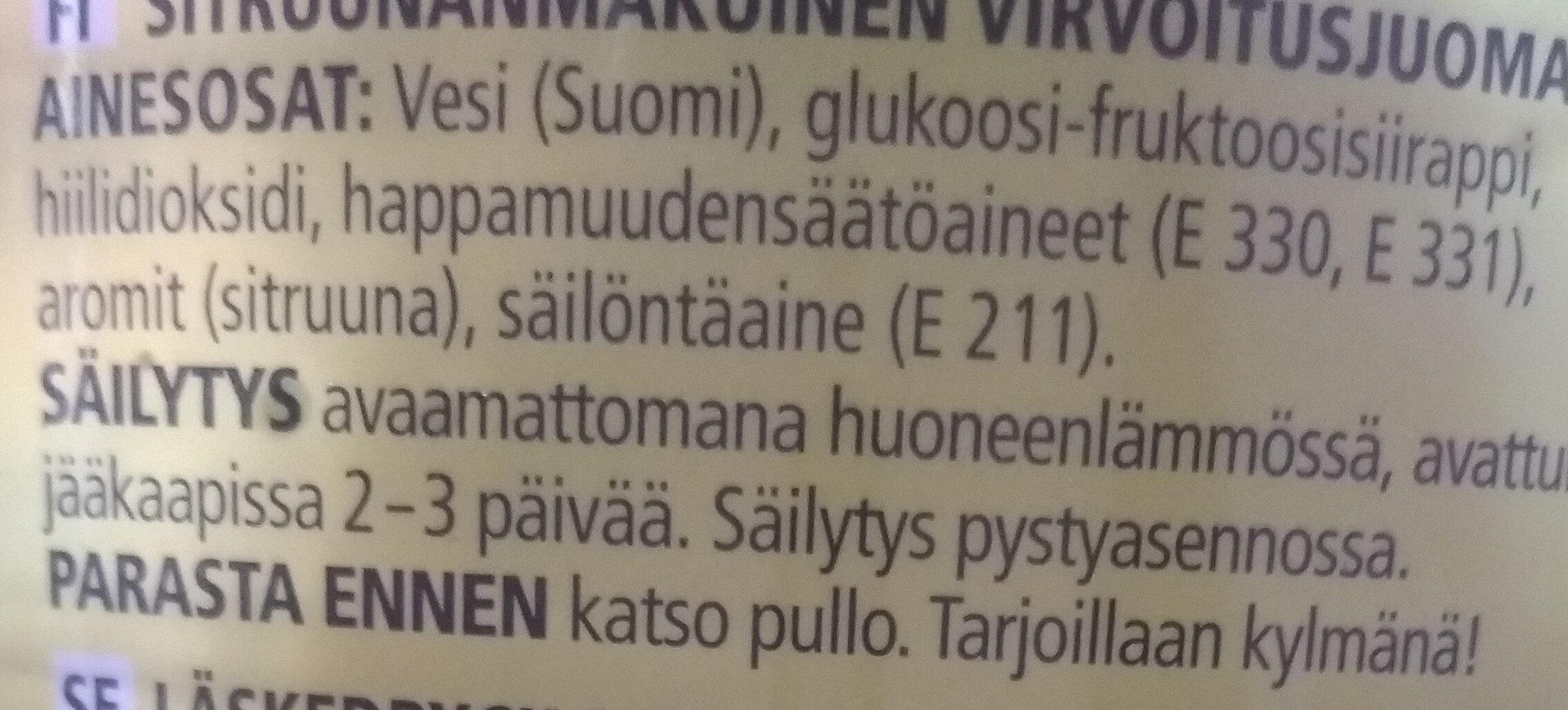 Sitrus - Ingrédients