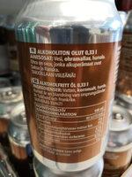 Vaalea lager alkoholiton olut - Ingredients