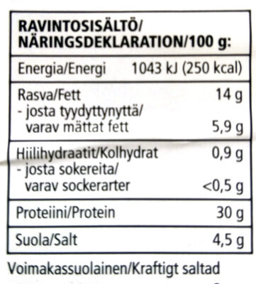 Serrano-kinkku - Informations nutritionnelles - fi