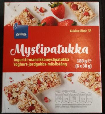 Jogurtti-mansikkamyslipatukka - Product - fi