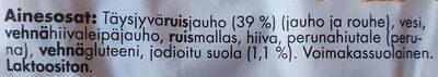 Ruiseväs - Ingredients - fi
