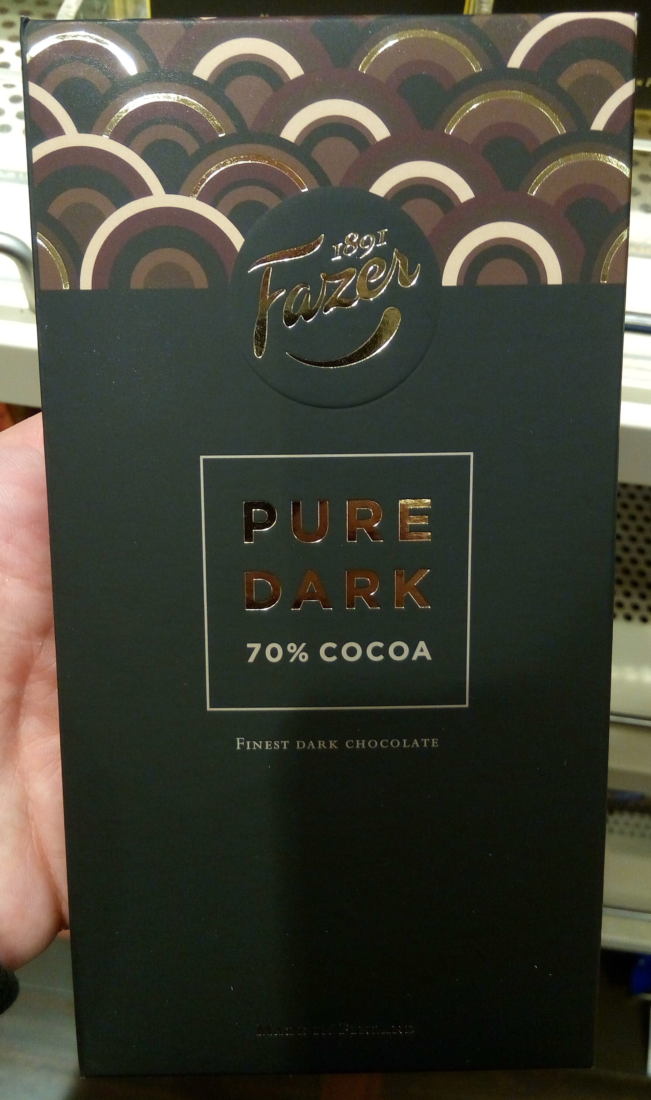 Pure Dark 70% Cocoa Finest Dark Chocolate - Produkt - da