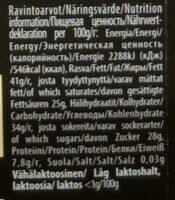 Lemon squeezy 70% dark - Ernæringsfakta - fi