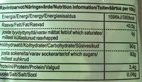 ässä Vaahtix 150G Kirpeitä Hedelmänmakuisia Vaahtomakeisia - Nutrition facts
