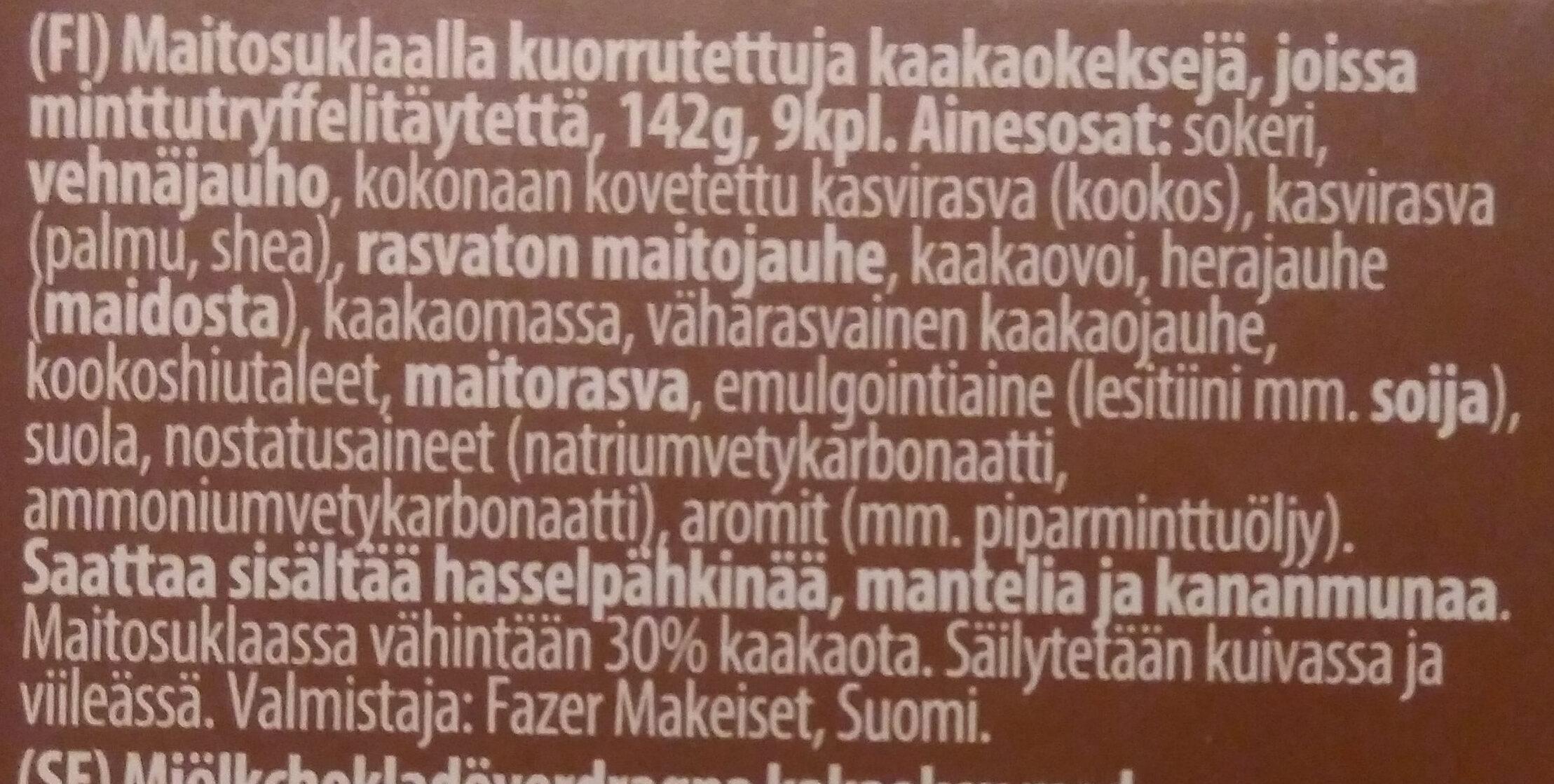 Pätkis suklaakeksi - Ainesosat - fi