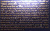 Karl Fazer Milk Chocolate - Información nutricional - en