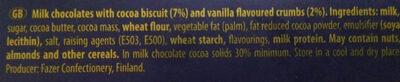 Karl Fazer Domino - Ingredients - en