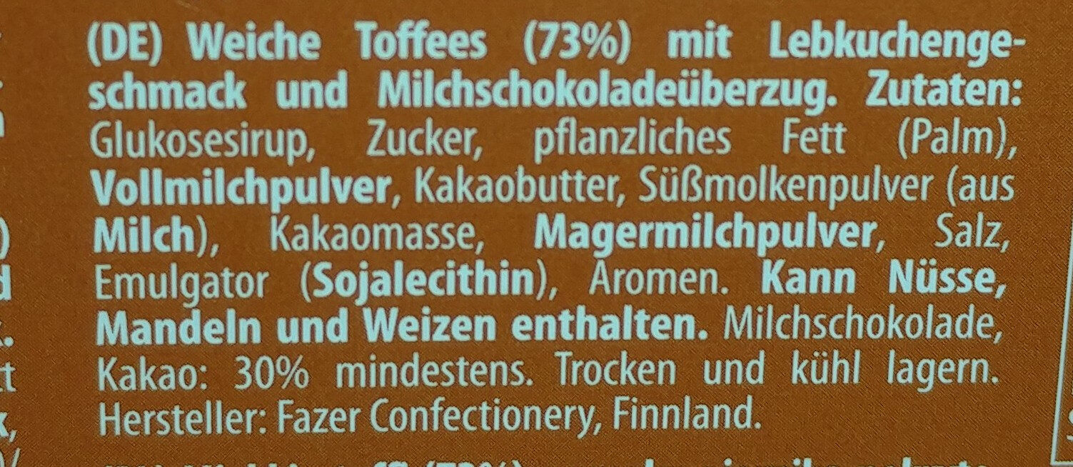 Dumle - Ingredients - de