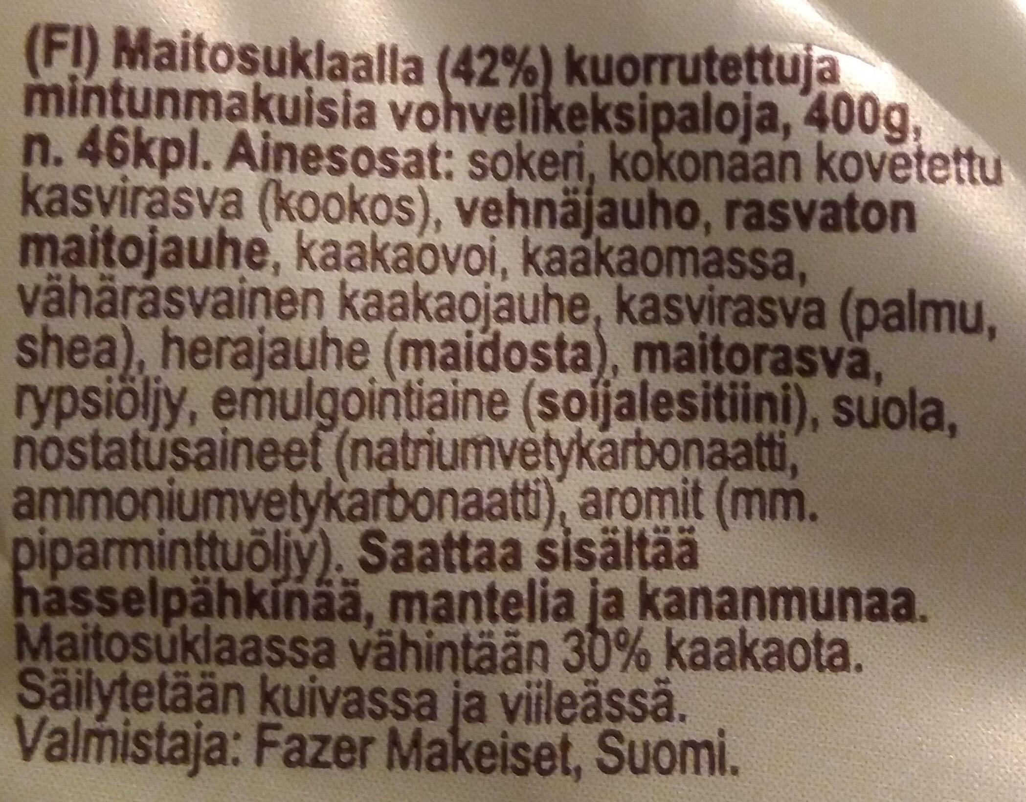 Fasupala Pätkis - Inhaltsstoffe - fi