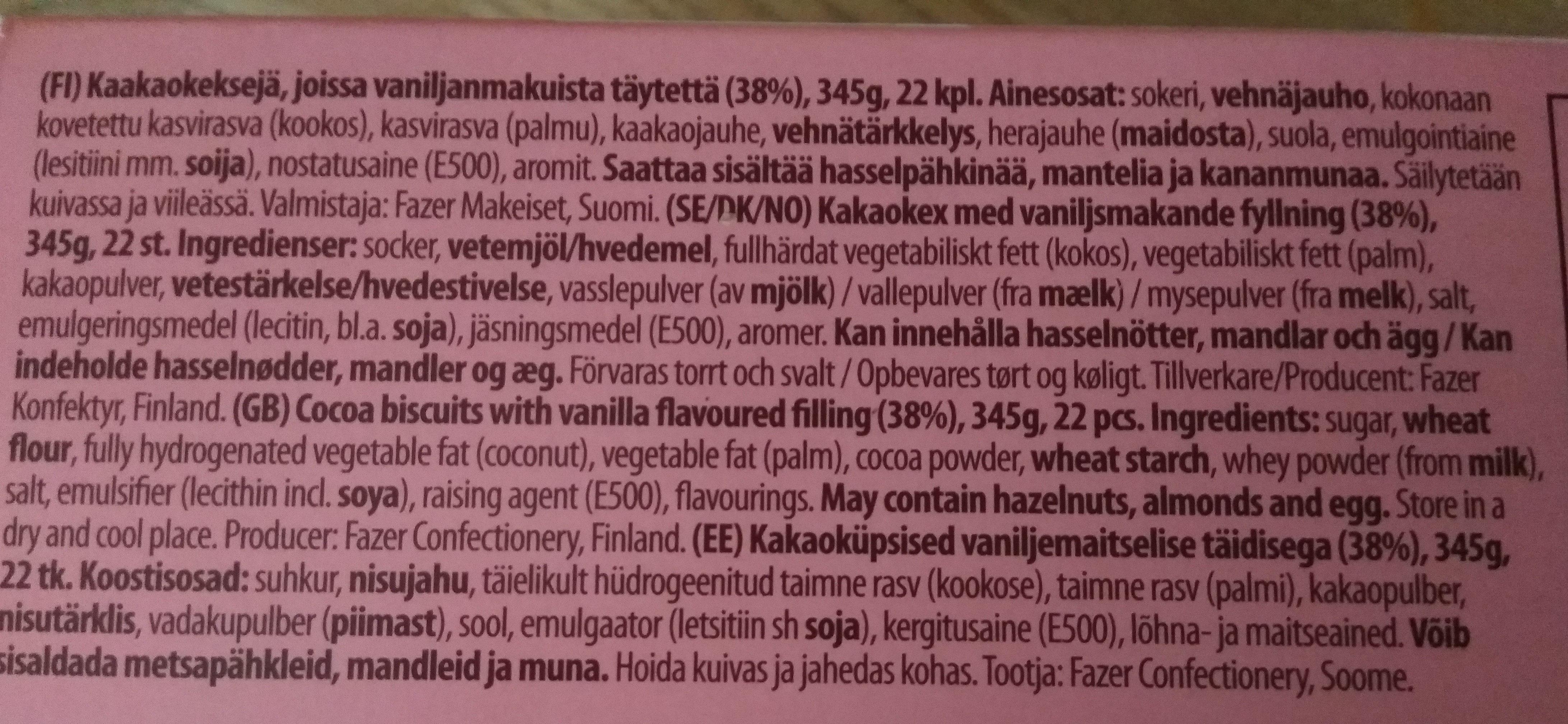 Domino - Ingredients - fi