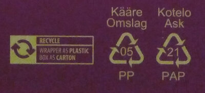 Jaffa Ässä - Recycling instructions and/or packaging information - en
