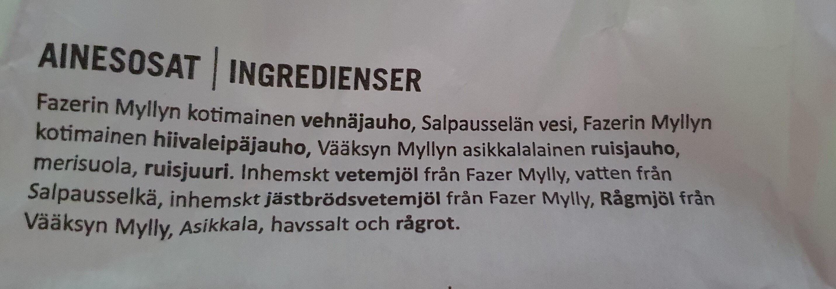 Hidas Hämäläinen - Ainesosat - fi