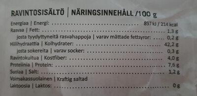 Hidas Hämäläinen - Ravintosisältö - fi