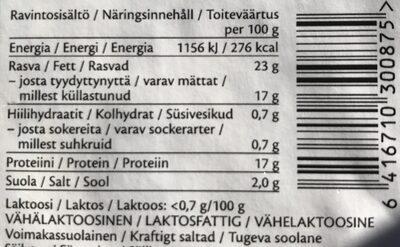 Feta - Informations nutritionnelles - fi