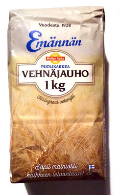 Emännän puolikarkea vehnäjauho - Tuote - fi