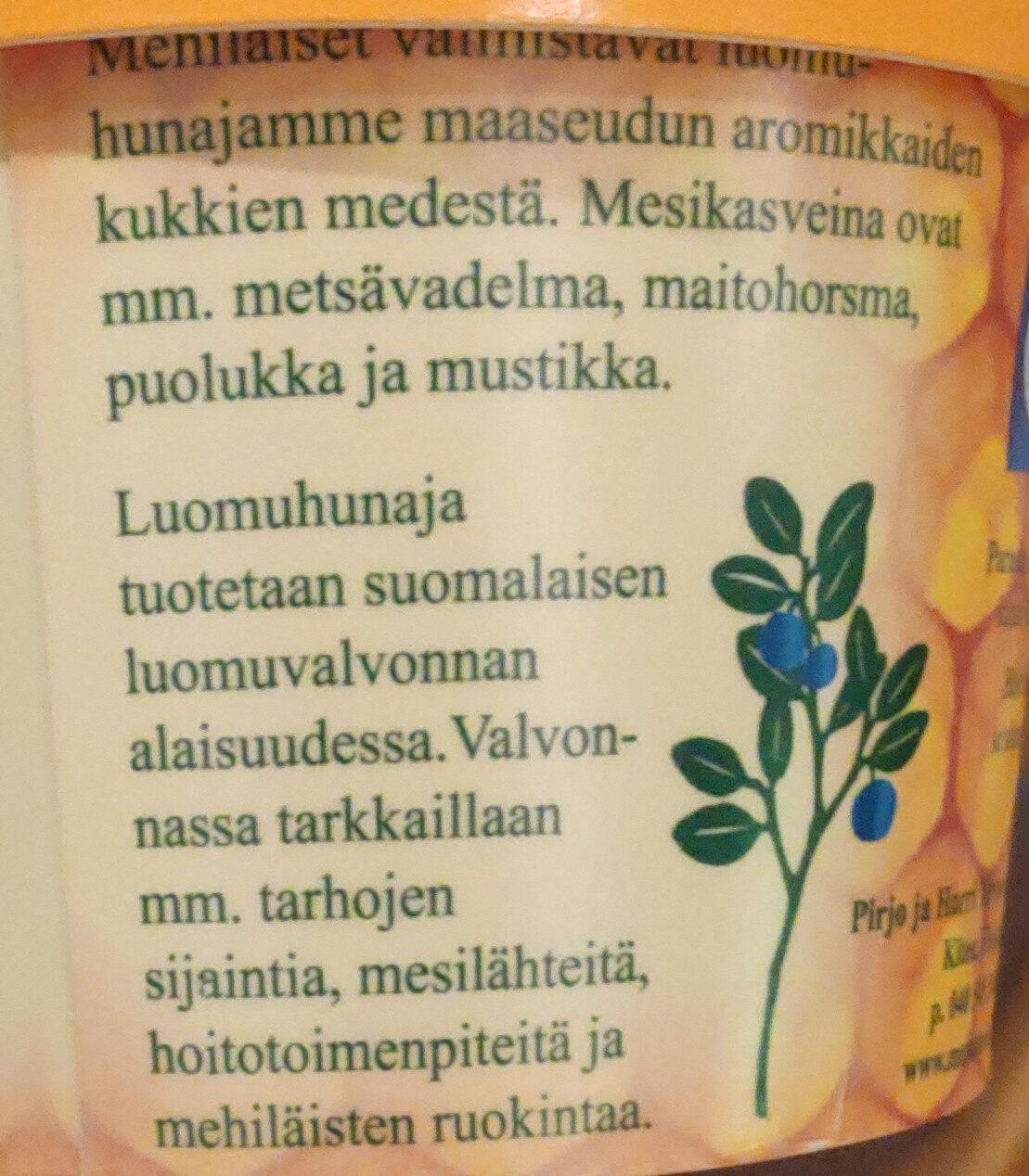 Luomuhunaja - Ingredients