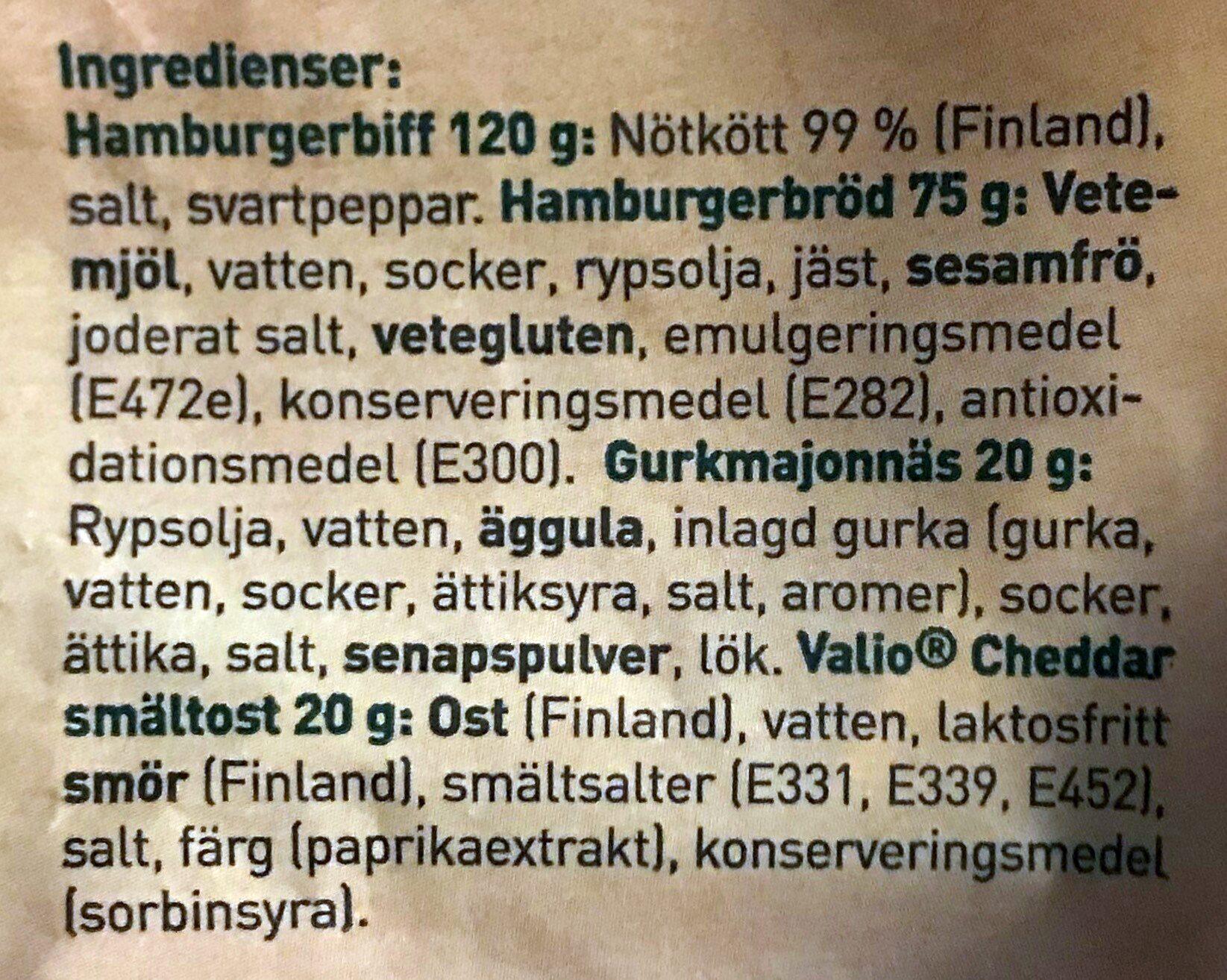Dubbelburgare - Ingredients - sv