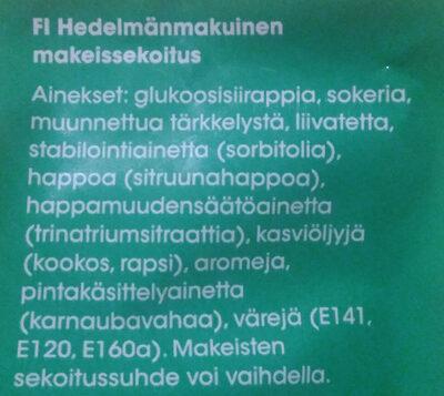 Hedelmä Aaakkoset - Ingrediënten - fi
