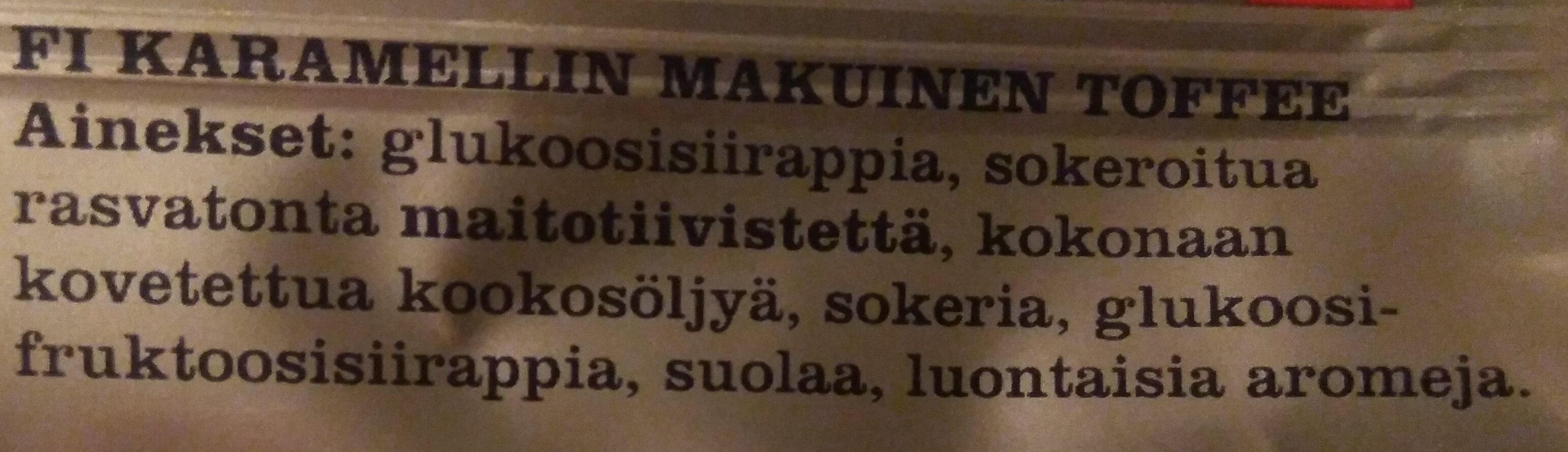 Tsinuskitoffee - Ingredients - fi