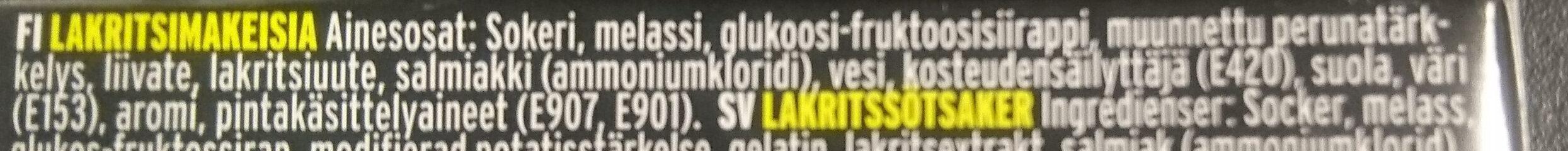 Laktritsi Pastilli - Ingredients - fi