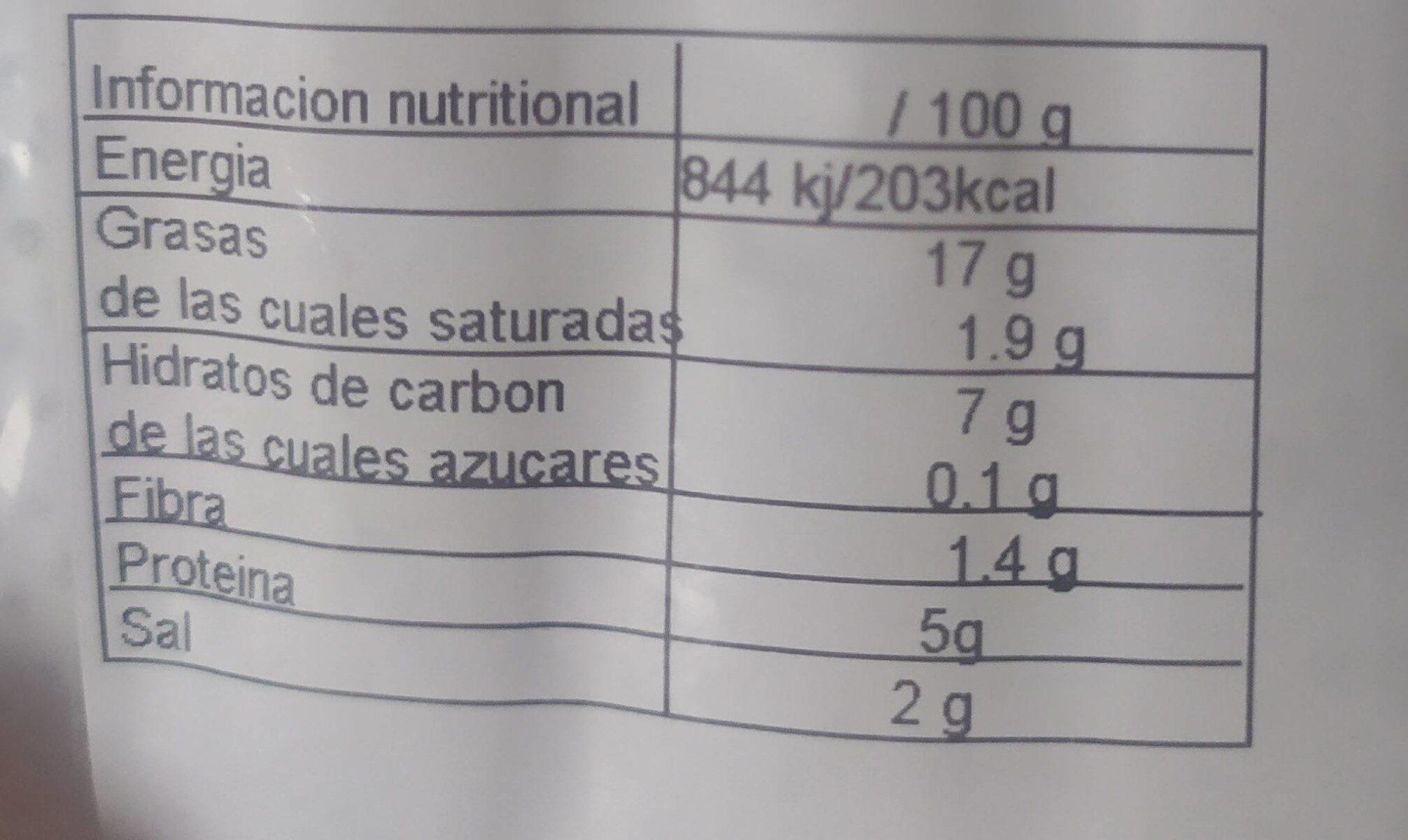 Tipo Salchichas de Frankfurt Veganas - Informations nutritionnelles - es
