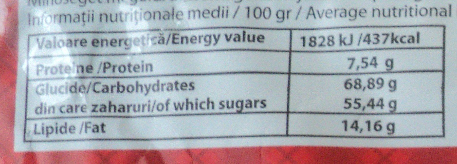 Nana Baton de casa cu lapte si cacao - Informations nutritionnelles