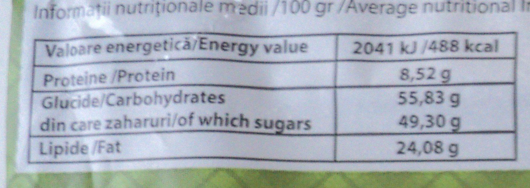 Nana Baton de casa cu lapte si bucati de nuca - Informations nutritionnelles