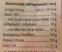 Pro Terve Siemen palaleipä - Informations nutritionnelles - fi