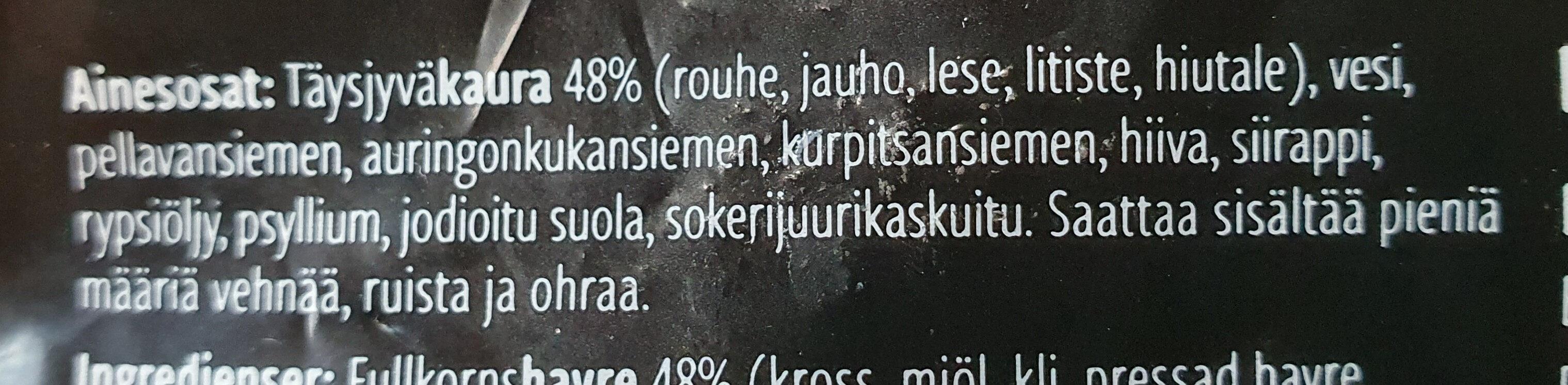 Kaurasiemenleipä - Ingrédients - fi