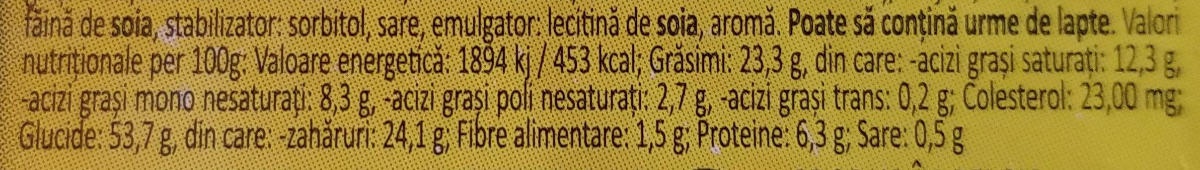 Gaufre de Liège cu zahăr perlat - Nutrition facts